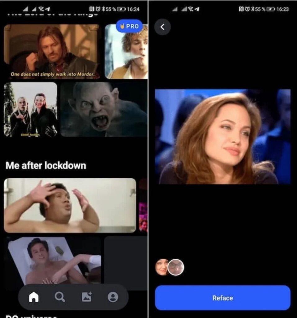 В сети набирает популярность приложение Reface